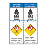 Lifeguard on Duty/No Diving Sign (WSS2257-43b-esm) )