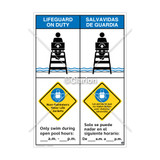 Lifeguard on Duty/Non-Swimmers WearSign (WSS2259-43b-esm))