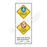 Watch Your Children Sign (WSS2262-52b-e) )