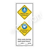 Watch Your Children Sign (WSS2263-52b-e) )