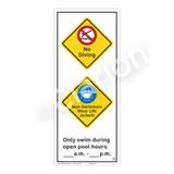 No Diving Sign (WSS2265-52b-e) )