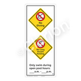No Diving Sign (WSS2266-52b-e) )