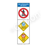 No Lifeguard on Duty/Watch Your Children Sign (WSS2304-07b-e) )