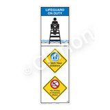 Lifeguard on Duty/Watch Your Children Sign (WSS2311-07b-e) )