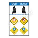 Lifeguard on Duty/No Diving Sign (WSS2314-08b-esm) )