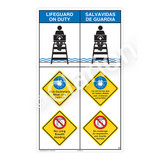 Lifeguard on Duty/Non-Swimmers WearSign (WSS2318-08b-esm))