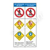 No Lifeguard on Duty/No Diving Sign (WSS2355-45b-esm) )