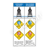 Lifeguard on Duty/Watch Your Children Sign (WSS2360-45b-esm) )