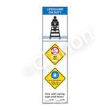 Lifeguard on Duty/No Diving Sign (WSS2364-44b-e) )