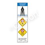 Lifeguard on Duty/No Diving Sign (WSS2365-44b-e) )