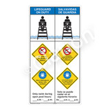 Lifeguard on Duty/No Diving Shallow WaterSign (WSS2366-45b-esm))