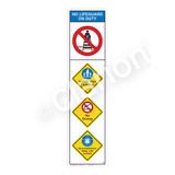 No Lifeguard on Duty/Watch Your Children Sign (WSS2401-09b-e) )