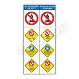 No Lifeguard on Duty/No Diving Sign (WSS2405-10b-esm) )
