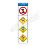 No Lifeguard on Duty/No Diving Shallow WaterSign (WSS2406-09b-e))