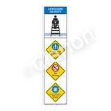 Lifeguard on Duty/Watch Your Children Sign (WSS2407-09b-e) )