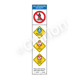 No Lifeguard on Duty/Watch Your Children Sign (WSS2452-46b-e) )