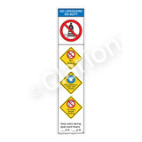 No Lifeguard on Duty/No Diving Sign (WSS2455-46b-e) )