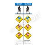 Lifeguard on Duty/Watch Your Children Sign (WSS2458-47b-esm) )