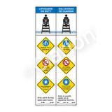 Lifeguard on Duty/Watch Your Children Sign (WSS2459-47b-esm) )