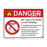 Danger/No Long Breath Holding Sign (WSS3106-13b-e) )