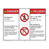 Danger/No Lifeguard on Duty Sign (WSS3205-20b-esm) )