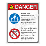Danger/Watch Your Children Sign (WSS3209-19b-e) )