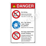 Danger/No Diving Sign (WSS3314-23b-e) )