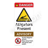 Danger/Alligators Present Sign (WSS4010-1) )