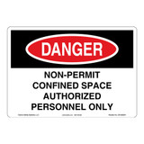 Danger/Non-Permit Sign (OS1002DH-)