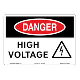 Danger/High Voltage Sign (OS1003DH-)