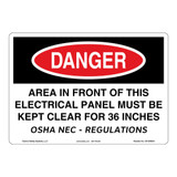 Danger/Area In Front Sign (OS1006DH-)