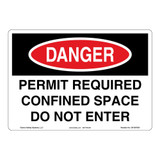 Danger/Permit Required Sign (OS1007DH-)