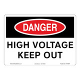 Danger/High Voltage Sign (OS1010DH-)