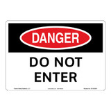 Danger/Do Not Enter Sign (OS1012DH-)