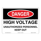 Danger/High Voltage Sign (OS1014DH-)