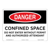 Danger/Confined Space Sign (OS1015DH-)