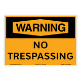 Warning/No Trespassing Sign (OS1017WH-)