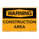 Warning/Construction Area Sign (OS1022WH-)
