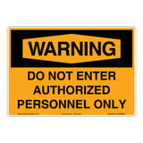 Warning/Do Not Enter Sign (OS1026WH-)