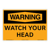 Warning/Watch Your Head Sign (OS1029WH-)