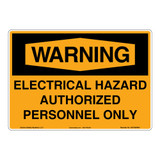 Warning/Electrical Hazard Sign (OS1030WH-)