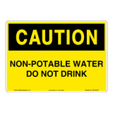 Caution/Non-Potable Water Sign (OS1034CH-)