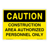 Caution/Construction Area Sign (OS1036CH-)