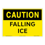 Caution/Falling Ice Sign (OS1037CH-)