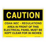 Caution/OSHA - NEC Sign (OS1038CH-)