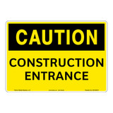 Caution/Construction Entrance Sign (OS1040CH-)