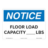 Notice/Floor Load Capacity Sign (OS1058NH-)