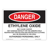 Danger/Ethylene Oxide Sign (OS1061DH-)