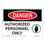 Danger/Authorized Personnel Sign (OS1064DH-)