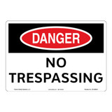 Danger/No Trespassing Sign (OS1068DH-)